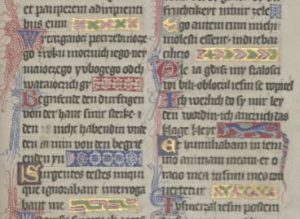 Fragment karty z Psałterza Floriańskiego